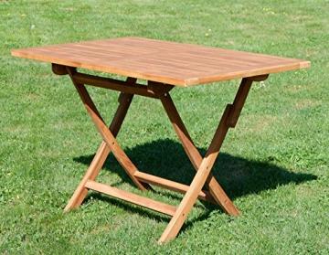 ASS ECHT Teak Holz Klapptisch Holztisch Gartentisch Tisch in verschiedenen Größen von Größe:120x70 cm - 2