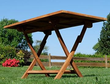 ASS ECHT Teak Holz Klapptisch Holztisch Gartentisch Tisch in verschiedenen Größen von Größe:120x70 cm - 4