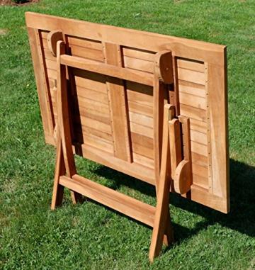 ASS ECHT Teak Holz Klapptisch Holztisch Gartentisch Tisch in verschiedenen Größen von Größe:120x70 cm - 5