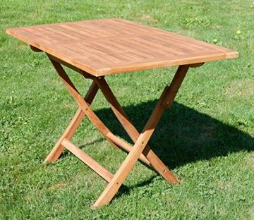 ASS ECHT Teak Holz Klapptisch Holztisch Gartentisch Tisch in verschiedenen Größen von Größe:120x70 cm - 6
