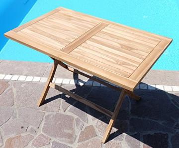ASS ECHT Teak Holz Klapptisch Holztisch Gartentisch Tisch in verschiedenen Größen von Größe:120x70 cm - 8