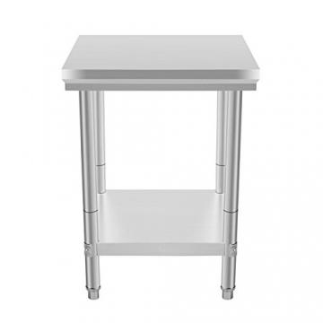 VEVOR Arbeitstisch 24 x 24 Inch Edelstahl Arbeitstisch Arbeitstisch Küche Stainless Steel Work Table (24 x 24 Inch) - 3