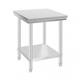 VEVOR Arbeitstisch 24 x 24 Inch Edelstahl Arbeitstisch Arbeitstisch Küche Stainless Steel Work Table (24 x 24 Inch) - 1