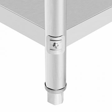 VEVOR Arbeitstisch 24 x 24 Inch Edelstahl Arbeitstisch Arbeitstisch Küche Stainless Steel Work Table (24 x 24 Inch) - 7