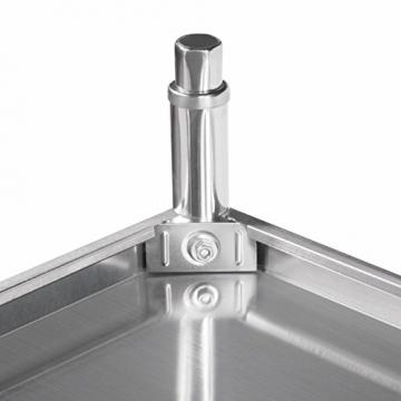 VEVOR Arbeitstisch 24 x 24 Inch Edelstahl Arbeitstisch Arbeitstisch Küche Stainless Steel Work Table (24 x 24 Inch) - 8