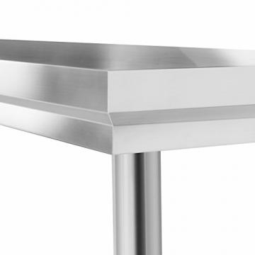 VEVOR Arbeitstisch 24 x 24 Inch Edelstahl Arbeitstisch Arbeitstisch Küche Stainless Steel Work Table (24 x 24 Inch) - 9