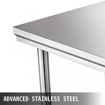 VEVOR Edelstahl Arbeitstisch 900 x 600 x 70 mm Essenszubereitung für die Zubereitung von Mahlzeiten, Nähen, Waschen, Basteln, Garagennutzung usw. - 3
