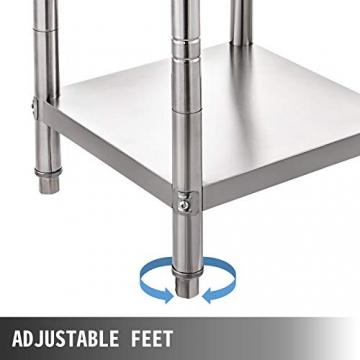 VEVOR Edelstahl Arbeitstisch 900 x 600 x 70 mm Essenszubereitung für die Zubereitung von Mahlzeiten, Nähen, Waschen, Basteln, Garagennutzung usw. - 6