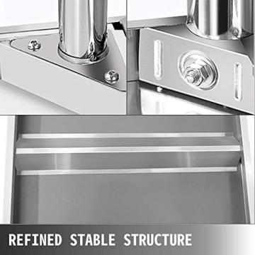 VEVOR Edelstahl Arbeitstisch 900 x 600 x 70 mm Essenszubereitung für die Zubereitung von Mahlzeiten, Nähen, Waschen, Basteln, Garagennutzung usw. - 7