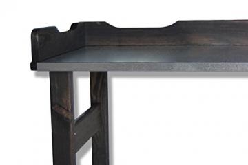 GartenDepot24 Pflanztisch mit verzinkter Arbeitsplatte schwarz B 80 x T 40 x H 82 cm - 6